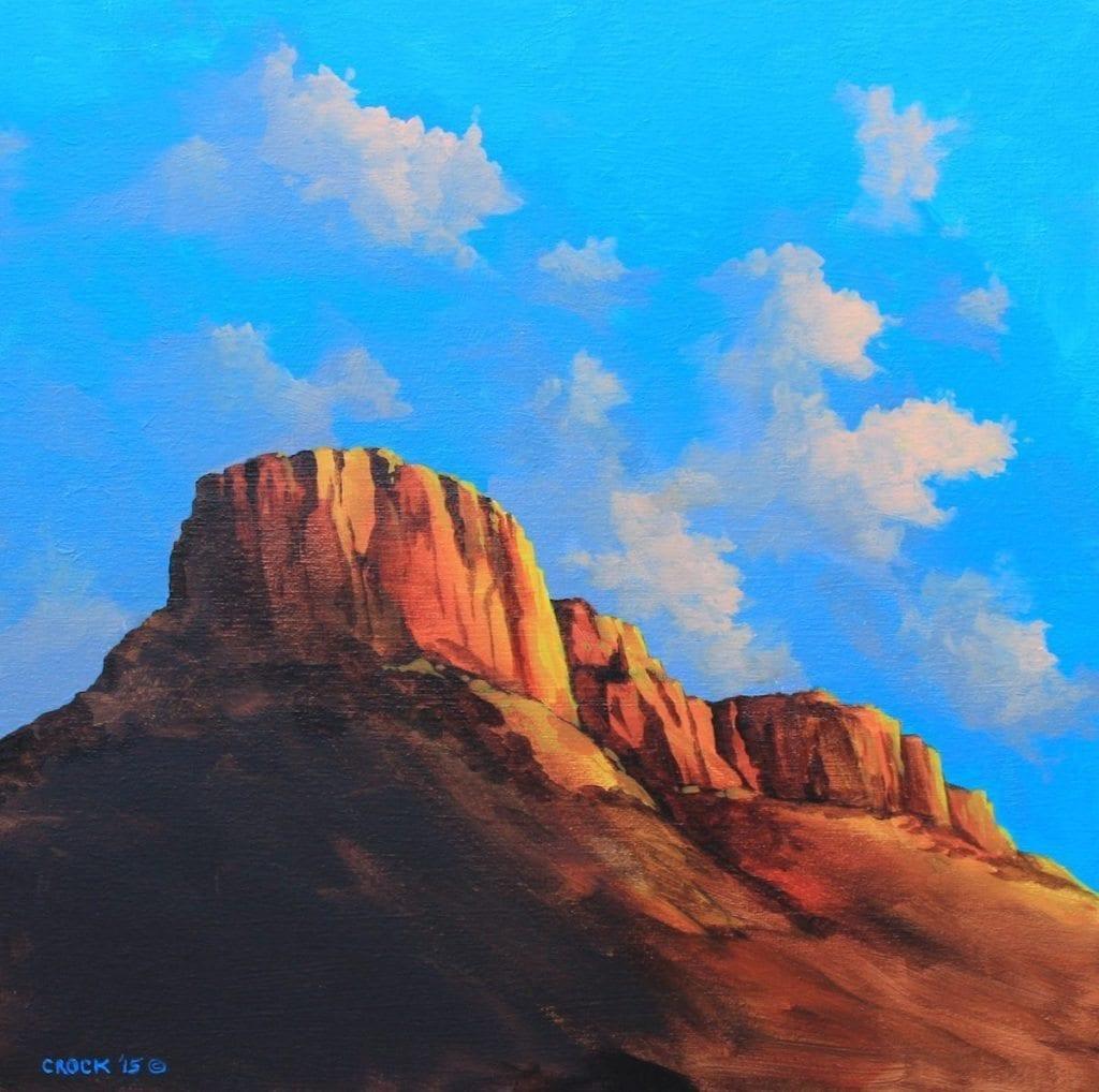 morning light on castle rock